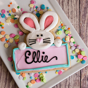 Bunny Love Cut-Out Cookie