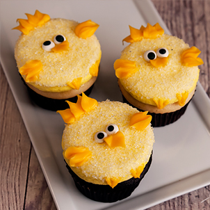 Easter Chick Decorated Cupcake