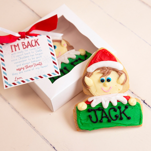 Elf Personalized Cookie