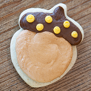 Small Acorn Cut-Out Cookie