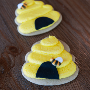 Beehive Cut-Out Cookie