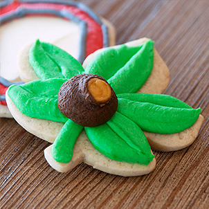Buckeye Leaf Cut-Out Cookie