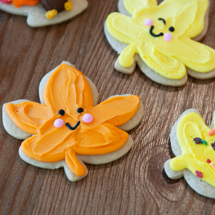 Smile Leaf Cut-Out Cookie