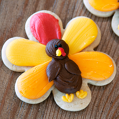 Turkey Cut-Out Cookie