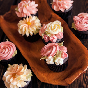 Blush Blossoms Cupcake Collection