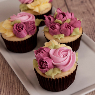 Lilac Florals Cupcake Collection