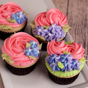 Rosette Garden Cupcake Collection
