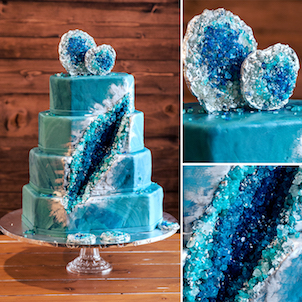 Geo Wedding Cake