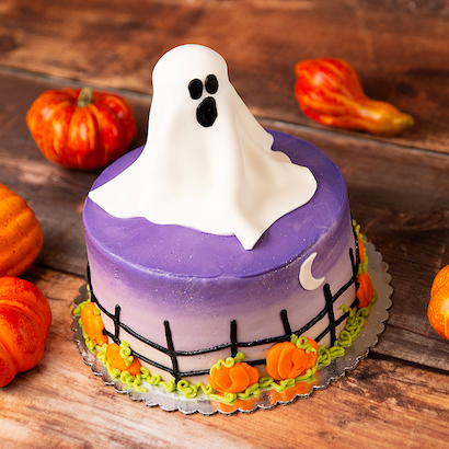 "3D Fondant Ghost Cake - 10"" Double Round"