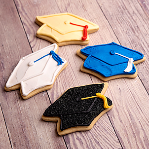 Grad Cap Cut-Out Cookies