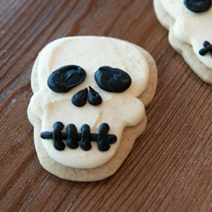 Skull Cut-Out Cookie