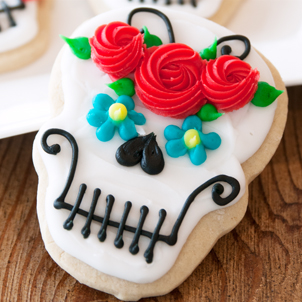 Sugar Skull Cut-Out Cookie