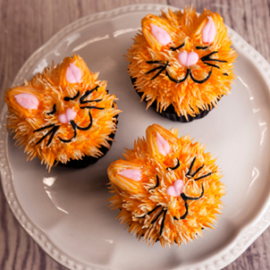 Kitten Decorated Cupcakes