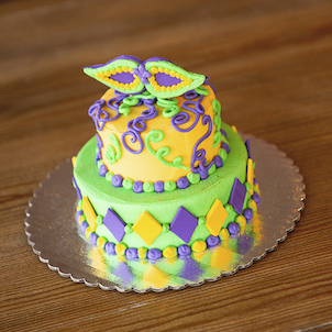 "Mardi Gras Sweet Stack- 6""-4"" Single Round"