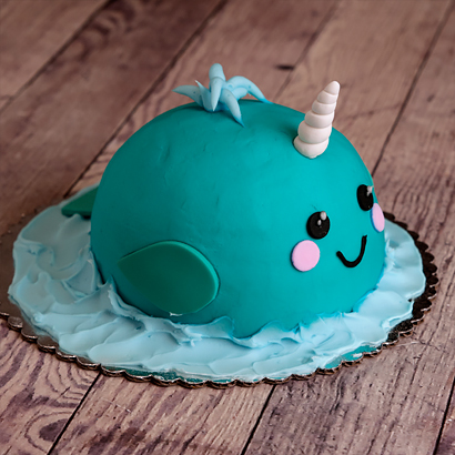 Decorating Class- Narwhal Cake