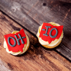 OH-IO Decorated Cupcake