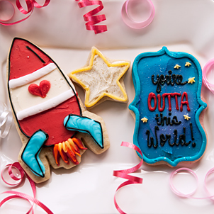 Valentine Cookie Set- You're Outta This World