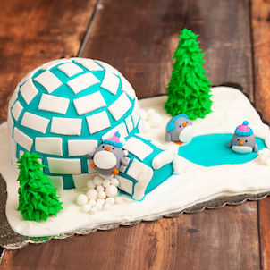 Sip & Decorate: Penguins and Igloo Cake- Dec. 6th