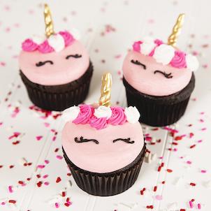 Pink Unicorn Decorated Cupcake