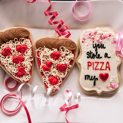 Valentine Cookie Set- You Stole A Pizza My Heart