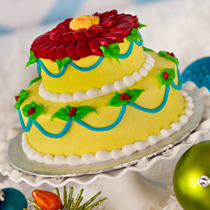 Poinsettia Party Sweet Stack