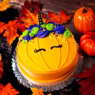 2D Halloween Unicorn Pumpkin