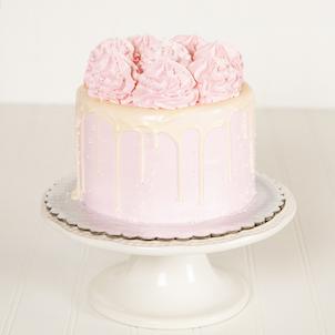 """Raspberry Amaretto Dessert Cake- 6"""" Double"""