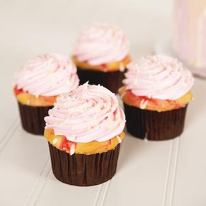Raspberry Amaretto Gourmet Cupcake