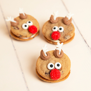 Reindeer Cookie Sandwich