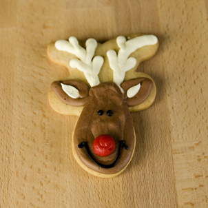 Reindeer Face Cut-Out Cookie