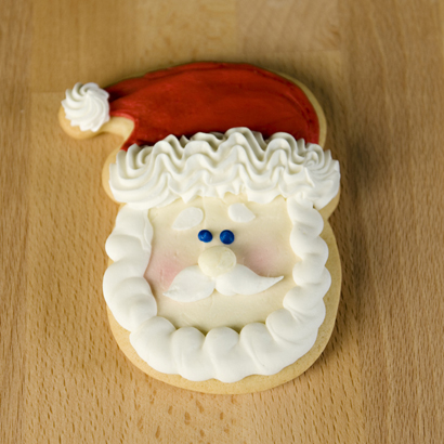 Santa Face Cut-Out Cookie