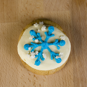 Snowflake Round Sugar Cookie
