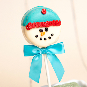 Snowman Brownie Pop