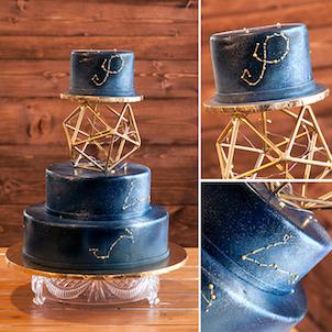 Star-Crossed Wedding Cake