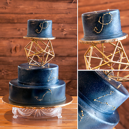Star-Crossed Wedding Cake