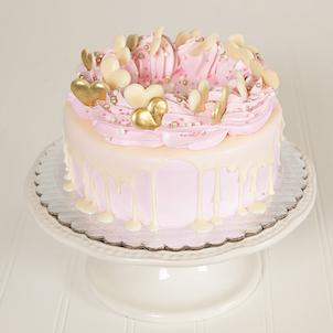 "Strawberry Champagne Dessert Cake- 6"""