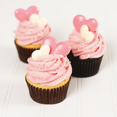 Sweet Romance Decorated Cupcake