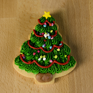 Christmas Tree Cut-Out Cookie