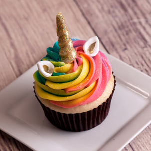 Unicorn Swirls Decorated Cupcake