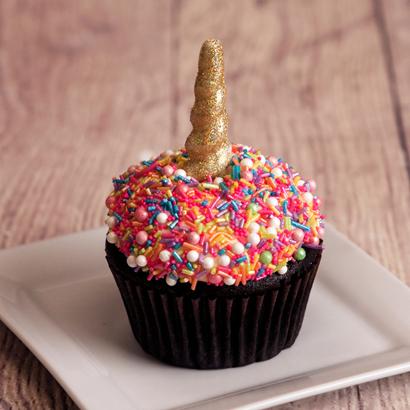 Unicorn Sprinkles Decorated Cupcake