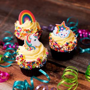 Unicorn Pick Decorated Cupcake