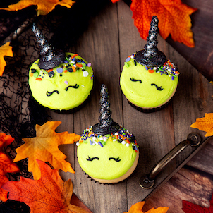 Witch Decorated Cupcake