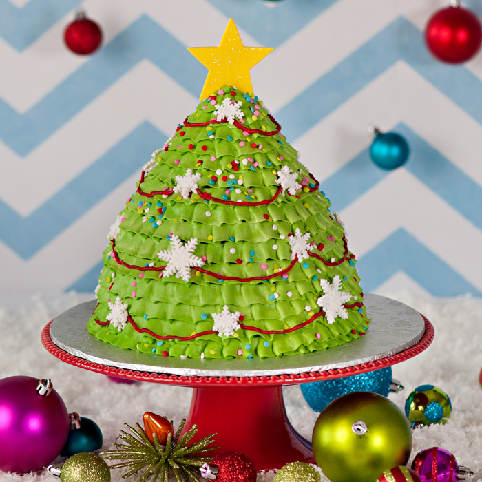 how to make a christmas tree cupcake cake