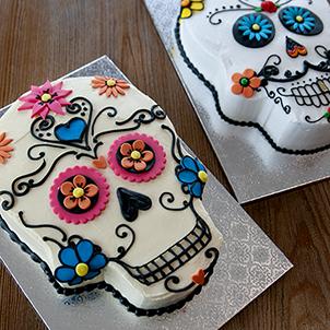 Sugar Skull Cut-Out Cake