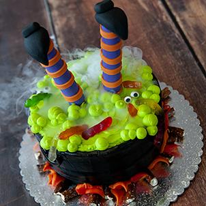 Witch's Cauldron Cake