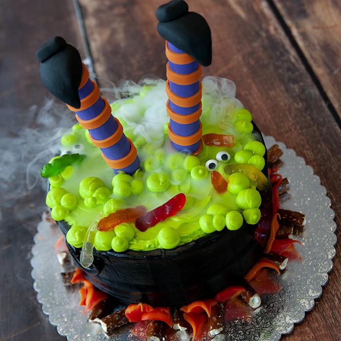 Witch S Cauldron Cake Witch S Cauldron Cake 8 Double Round